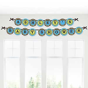 Giraffe Boy - Personalized Baby Shower Garland Letter Banners