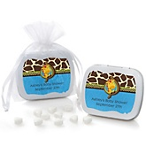 Giraffe Boy - Mint Tin Personalized Baby Shower Favors