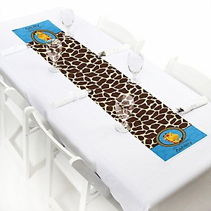 Giraffe Boy - Personalized Baby Shower Petite Table Runners