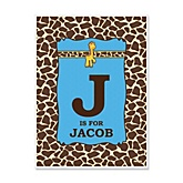 Giraffe Boy - Personalized Baby Shower Poster Gifts