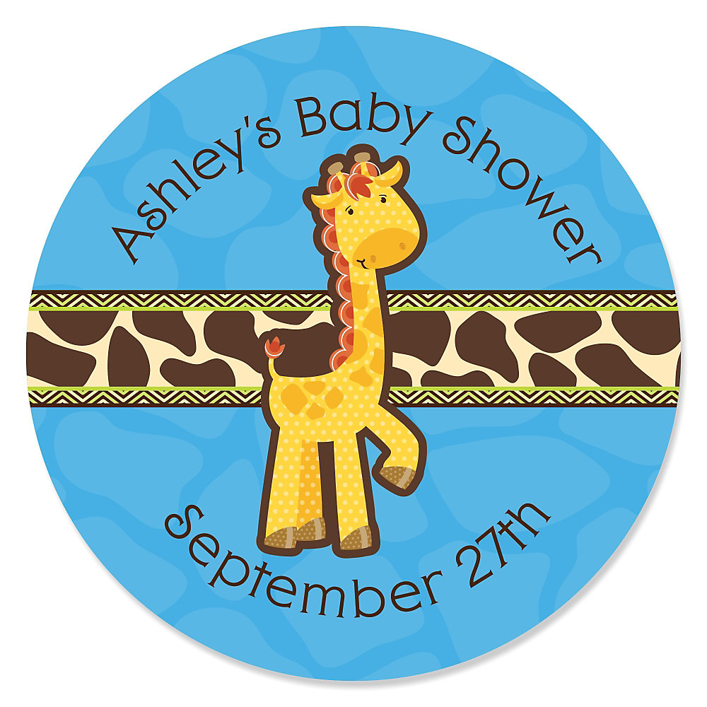 More Views. Giraffe Boy   Personalized Baby Shower ...