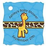Giraffe Boy - Personalized Baby Shower Tags - 20 Count