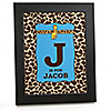 Giraffe Boy - Personalized Baby Shower Wall Art Gift