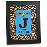 Giraffe Boy - Personalized Nursery Wall Art Gift