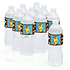 Giraffe Boy - Personalized Baby Shower Water Bottle Label Favors