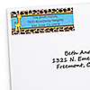 Giraffe Boy - Personalized Birthday Party Return Address Labels - 30 ct