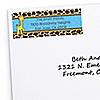 Giraffe Boy - Personalized Birthday Party Return Address Labels - 30 ct
