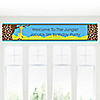 Giraffe Boy - Personalized Birthday Party Banners