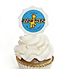 Giraffe Boy - Personalized Birthday Party Cupcake Pick and Sticker Kit - 12 ct