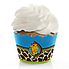Giraffe Boy - Birthday Party Cupcake Wrappers
