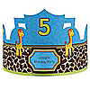 Giraffe Boy - Personalized Birthday Party Hats - 8 ct