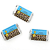 Giraffe Boy - Personalized Birthday Party Mini Candy Bar Wrapper Favors - 20 ct