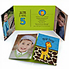 Giraffe Boy - Personalized Birthday Party Photo Invitations