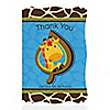 Giraffe Boy - Personalized Birthday Party Thank You Cards