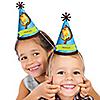 Giraffe Boy - Personalized Cone Birthday Party Hats - 8 ct