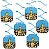 Giraffe Boy - Birthday Party Hanging Decorations - 6 ct