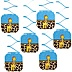 Giraffe Boy - Baby Shower Hanging Decorations - 6 Count