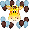 Boy Jolly Giraffe - Birthday Party Balloon Kit