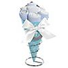 Little Miracle Boy Blue & Gray Cross - Baby Shower Diaper Bouquets