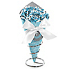 Little Miracle Boy Blue & Gray Cross - Baby Shower Candy Bouquets with Frooties