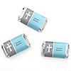 Little Miracle Boy Blue & Gray Cross - Personalized Baptism Mini Candy Bar Wrapper Favors - 20 ct