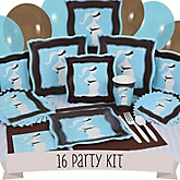 Mommy Silhouette It's A Boy - 16 Person Baby Shower Kit