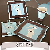 Mommy Silhouette It's A Boy - 8 Person Baby Shower Kit