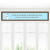 Mommy Silhouette - It's A Boy - Personalized Baby Shower Banner