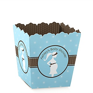 Mommy Silhouette It's A Boy - Personalized Baby Shower Candy Boxes