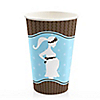 Mommy Silhouette It's A Boy - Baby Shower Hot/Cold Cups - 8 ct