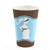 Mommy Silhouette It's A Boy - Baby Shower Hot/Cold Cups - 8 Pack