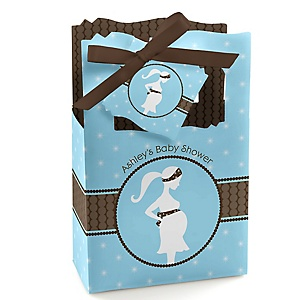 Mommy-To-Be Silhouette – It's A Boy - Personalized Baby Shower Favor Boxes