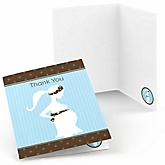 Mommy Silhouette It's A Boy - Baby Shower Thank You Cards - Set of  8