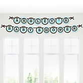 Mommy Silhouette It's A Boy - Personalized Baby Shower Garland Banner