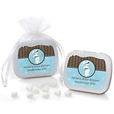 Mommy Silhouette It's A Boy - Mint Tin Personalized Baby Shower Favors