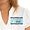 Mommy Silhouette It's A Boy - Personalized Baby Shower Name Tag Stickers - 8 ct