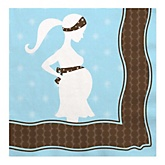 Mommy Silhouette It's A Boy - Baby Shower Luncheon Napkins - 16 Pack