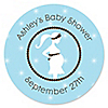 Mommy Silhouette It's A Boy - Personalized Baby Shower Sticker Labels - 24 ct