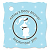 Mommy Silhouette It's A Boy - Personalized Baby Shower Tags - 20 ct