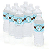 Mommy Silhouette It's A Boy - Personalized Baby Shower Water Bottle Label Favors
