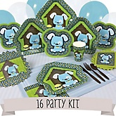 Boy Puppy Dog - 16 Person Baby Shower Kit