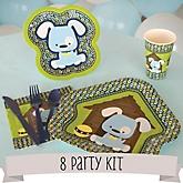 Boy Puppy Dog - 8 Person Baby Shower Kit