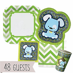 Boy Puppy Dog - Baby Shower Tableware Bundle for 48 Guests