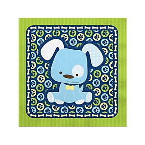 Boy Puppy Dog - Baby Shower Beverage Napkins - 16 Pack