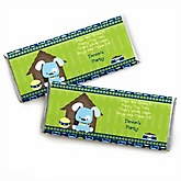 Boy Puppy Dog - Personalized Baby Shower Candy Bar Wrapper Favors