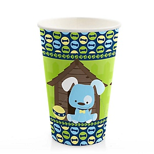 Boy Puppy Dog - Baby Shower Hot/Cold Cups - 8 Pack