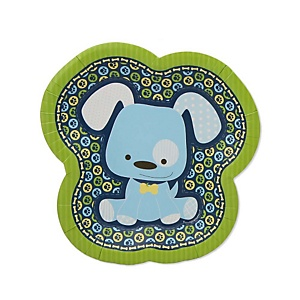 Boy Puppy Dog - Baby Shower Dessert Plates - 8 Pack