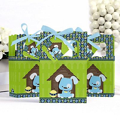 blue Puppy Dog Baby Shower Favor Box