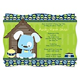 Boy Puppy Dog - Personalized Baby Shower Invitations