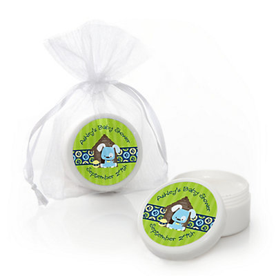 Boy Puppy Dog - Personalized Baby Shower Lip Balm Favors...